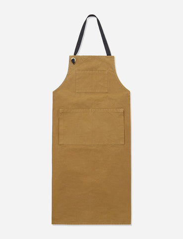 Labour and Wait Bib Apron - Brown