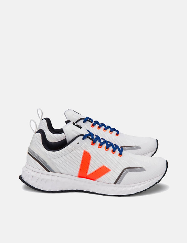 Veja Condor Running Shoes - White/Orange Fluo