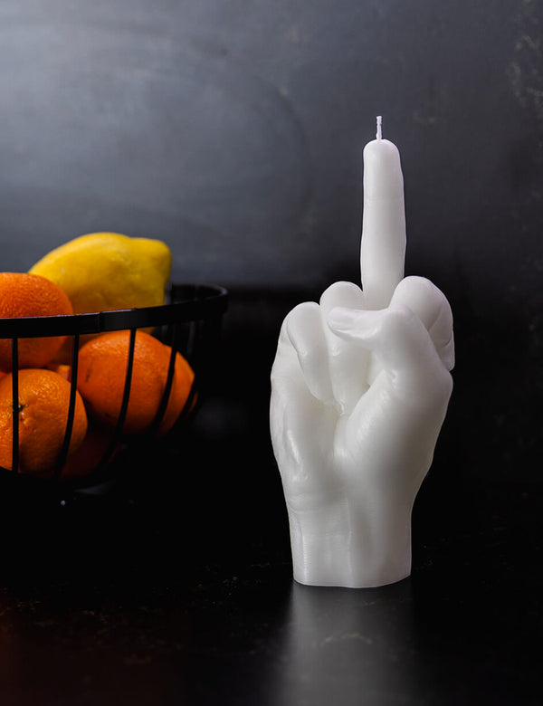 CandleHand F*CK Candle - White
