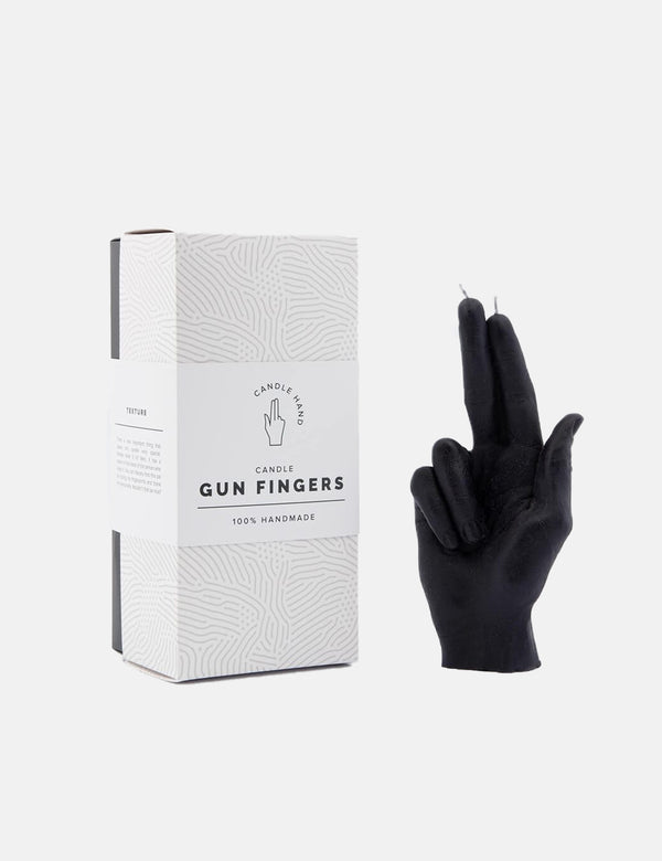 CandleHand Gun Fingers Candle - Black