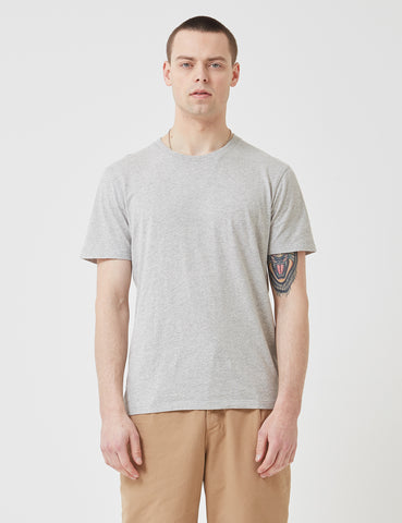 Folk Assembly Tee - Light Grey Melange