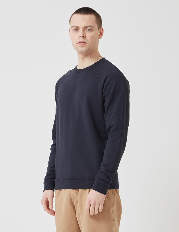 Folk Rivet Sweatshirt - Navy Blue
