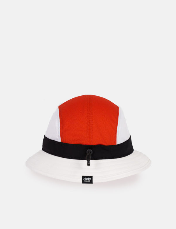Ciele Athletics Bucket Hat (Equipe) - White/Orange/Black