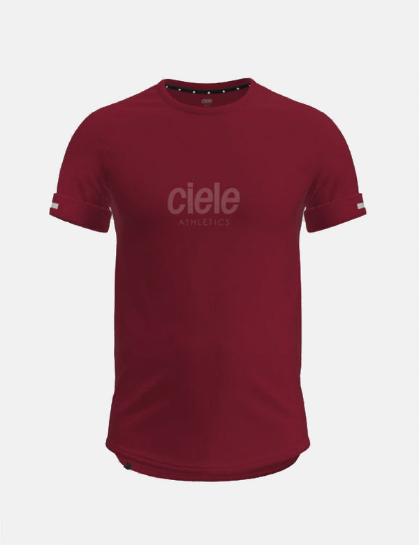 Ciele Athletics NSB Core Leichtathletik-T-Shirt (Whitaker) - Burgund