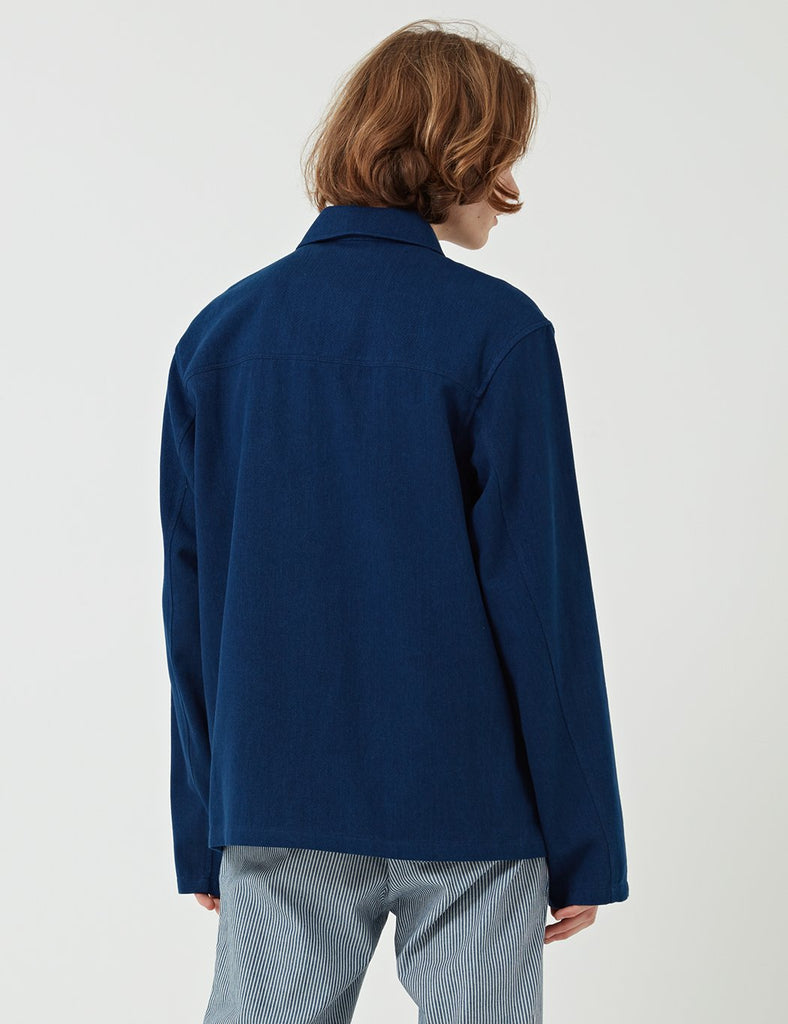 A.P.C. Liquette Haddock Shirt (Soft Denim) - Navy Blue - Article