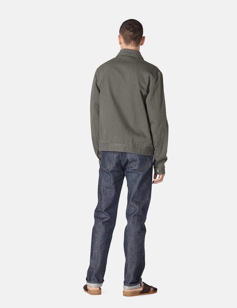 A.P.C. Career Jacket (Japanese denim) - Khaki Green - Article