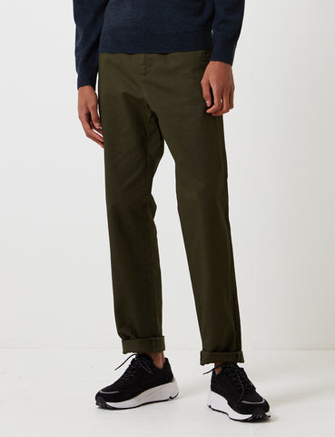 A.P.C. Terry Trousers - Military Khaki Green - Article