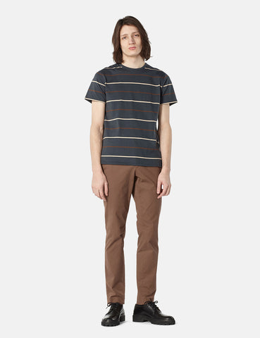 A.P.C. Jimmy Multi Stripe T-shirt - Anthracite Grey - Article