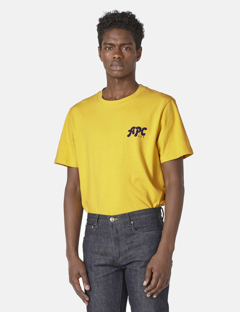 A.P.C. Sid T-shirt - Mustard Yellow - Article