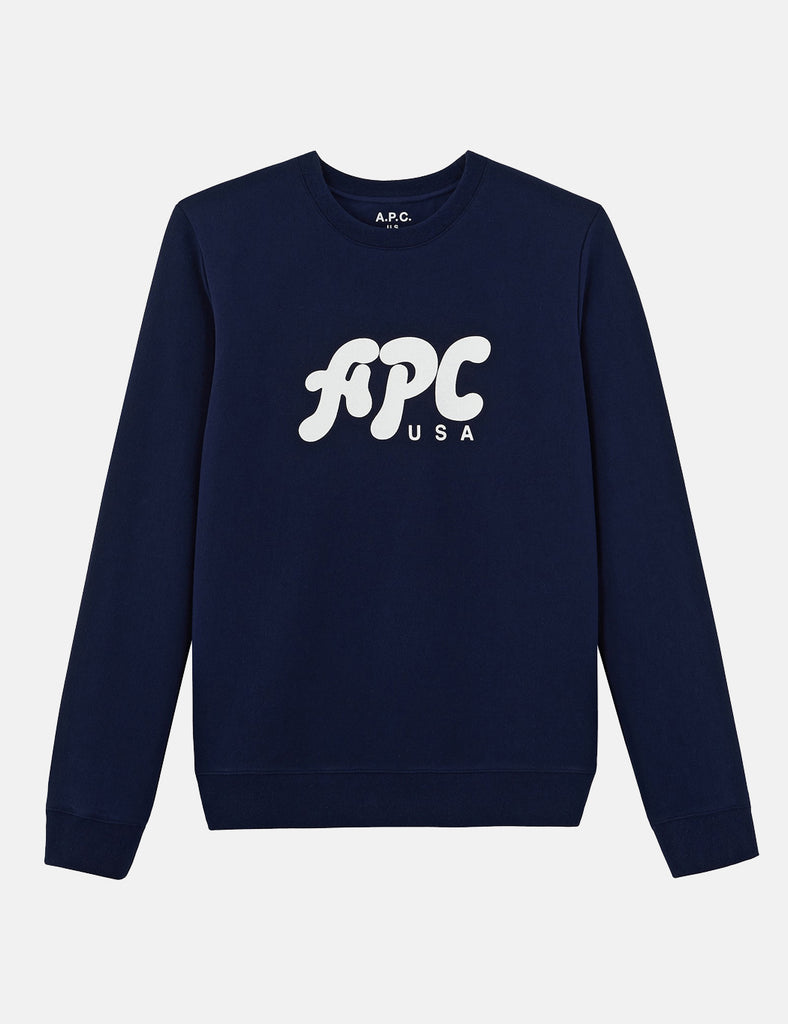 A.P.C. Gabe Sweatshirt - Dark Navy Blue - Article