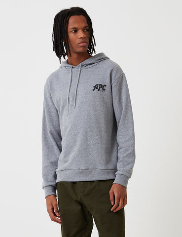 A.P.C. Michel Hooded Sweatshirt - Heather Grey - Article