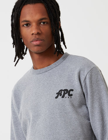 A.P.C. Jaques Sweatshirt - Heather Grey - Article