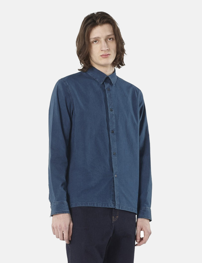 A.P.C. Oslo Overshirt - Indigo Blue - Article