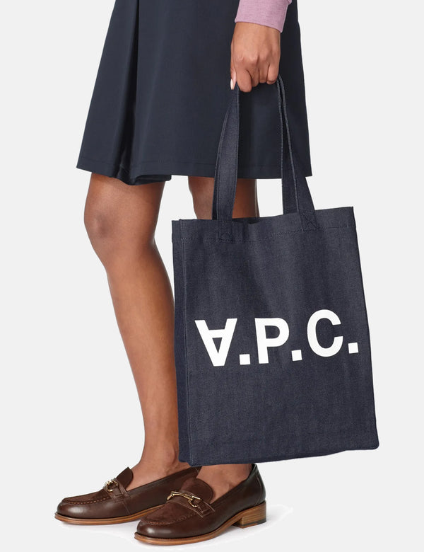 A.P.C. Laure Tote Bag - Indigo Denim Blue