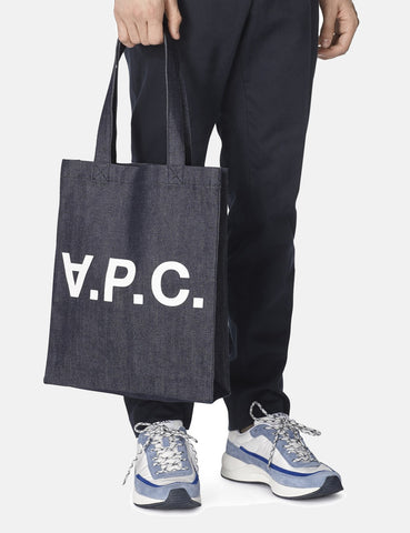 A.P.C. Laurent Tote Bag - Indigo Denim Blue
