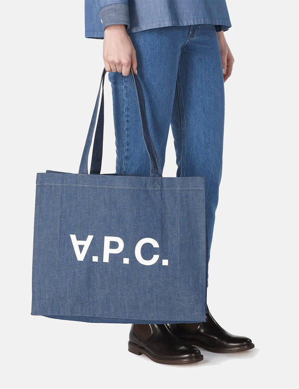 A.P.C. Daniela Shopper Bag - Indigo