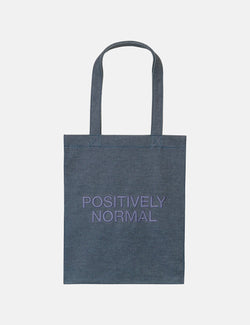 A.P.C. Positively Normal Tote Bag (Indigo Denim) - Dark Navy Blue