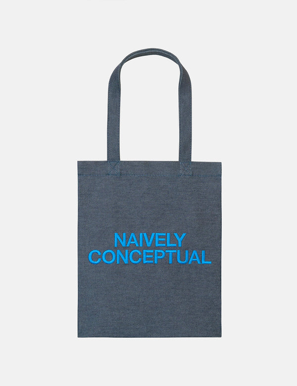 A.P.C. Naively Conceptual Tote Bag (Indigo Denim) - Blue