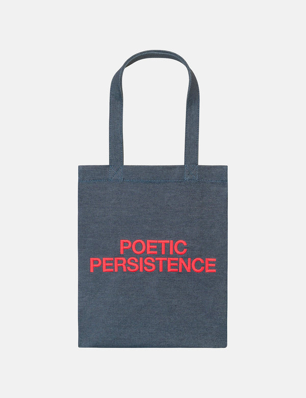 A.P.C. Poetic Persistence Tote Bag (Indigo Denim) - Red