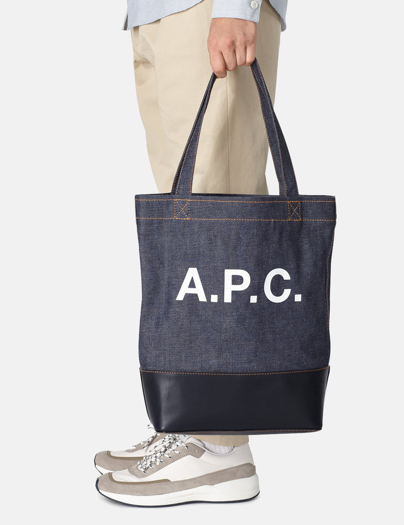 A.P.C. Cabas Axel Tote Bag - Dark Navy Blue - Article