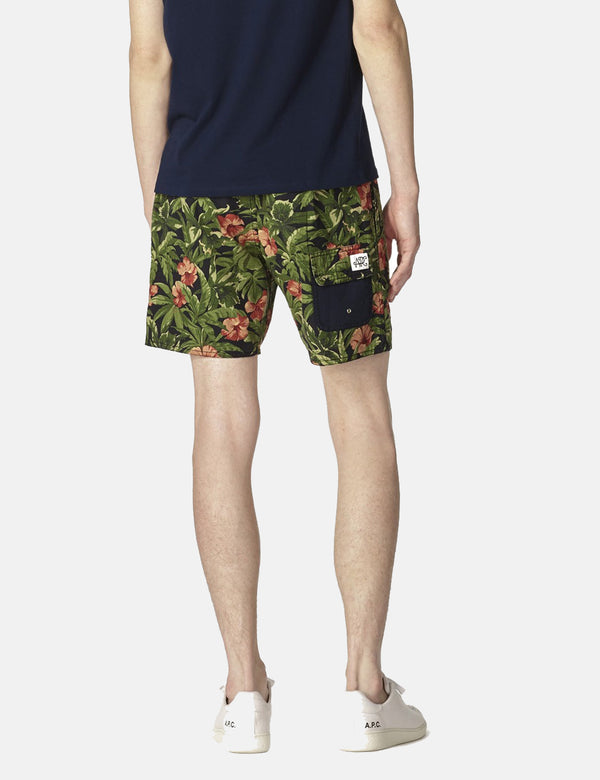 APC Eli Jungle Print Shorts - Khaki Grün