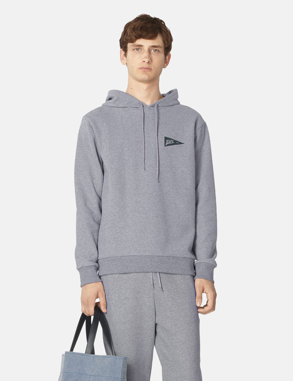 A.P.C. Bernard Hooded Sweatshirt - Grey