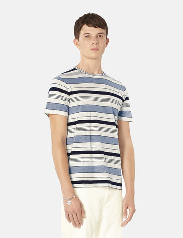 A.P.C. Robert Stripe T-Shirt - Grey