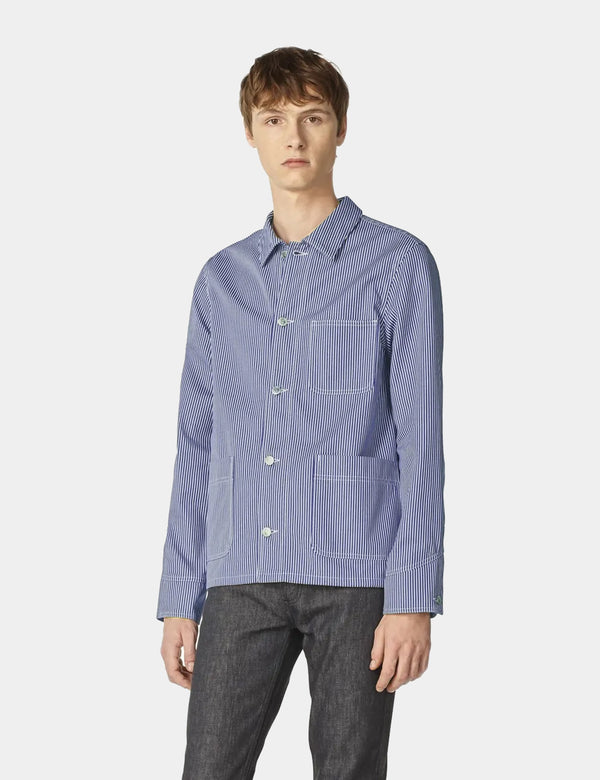 A.P.C. Aaron Jacket - Navy Blue Stripe