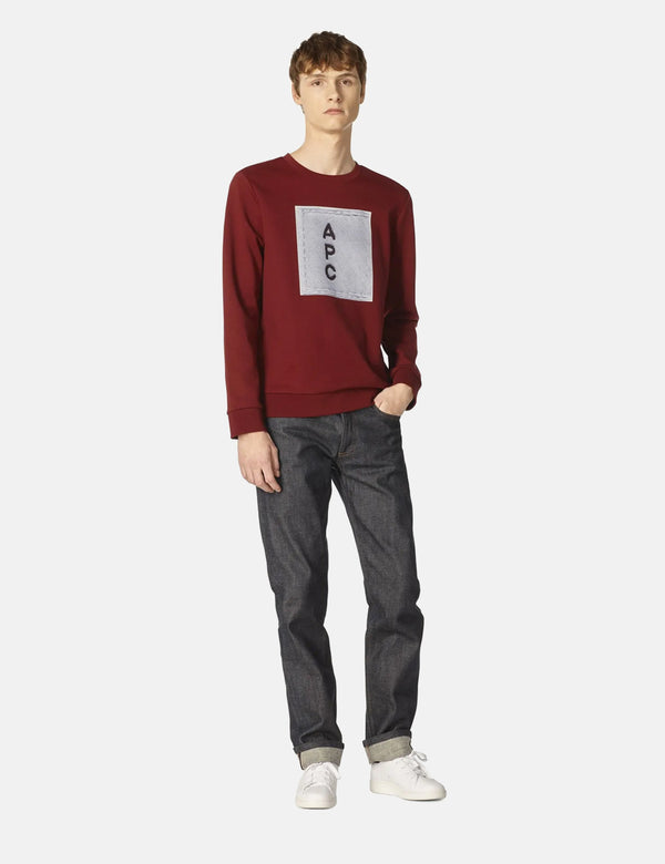 A.P.C. H Logo Sweatshirt - Dark Red