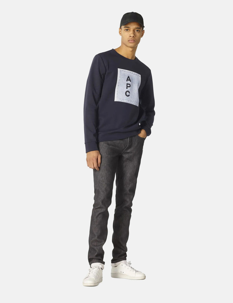 A.P.C. H Logo Sweatshirt - Dark Navy Blue