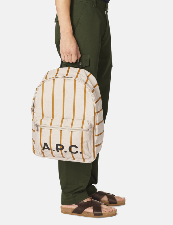 A.P.C. Construction Backpack - White/Orange