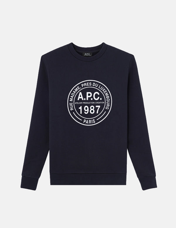 A.P.C. Simon Sweatshirt - Dark Navy Blue