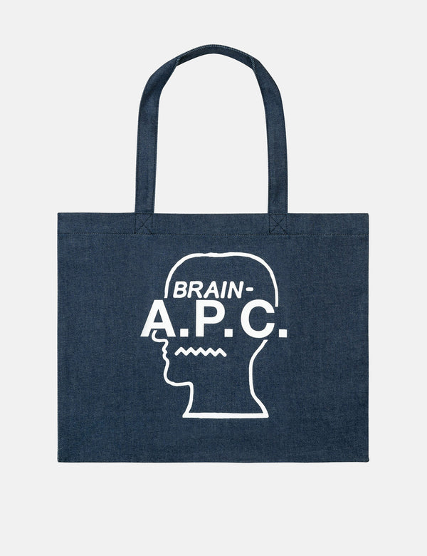 A.P.C. x Brain Dead Shopping Bag - Blue Blanc