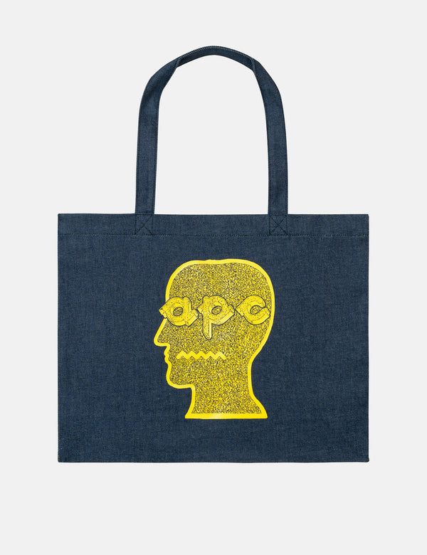 A.P.C. x Brain Dead Shopping Bag - Blue Jaune