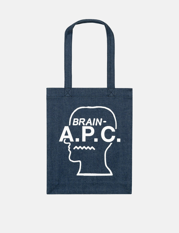A.P.C. x Brain Dead Tote  Bag - Blue Blanc