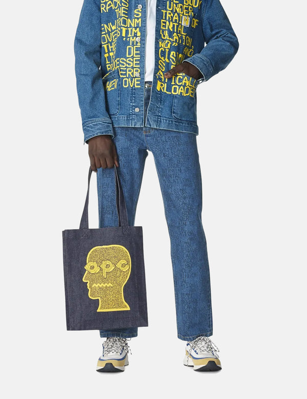 A.P.C. x Brain Dead Tote Bag - Blue Jaune