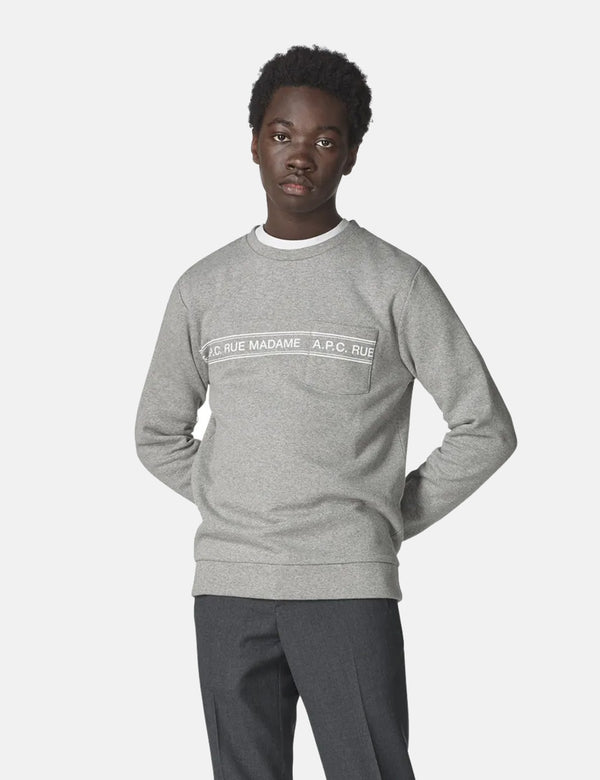 A.P.C. Rue Madame Sweatshirt - Grey Heather