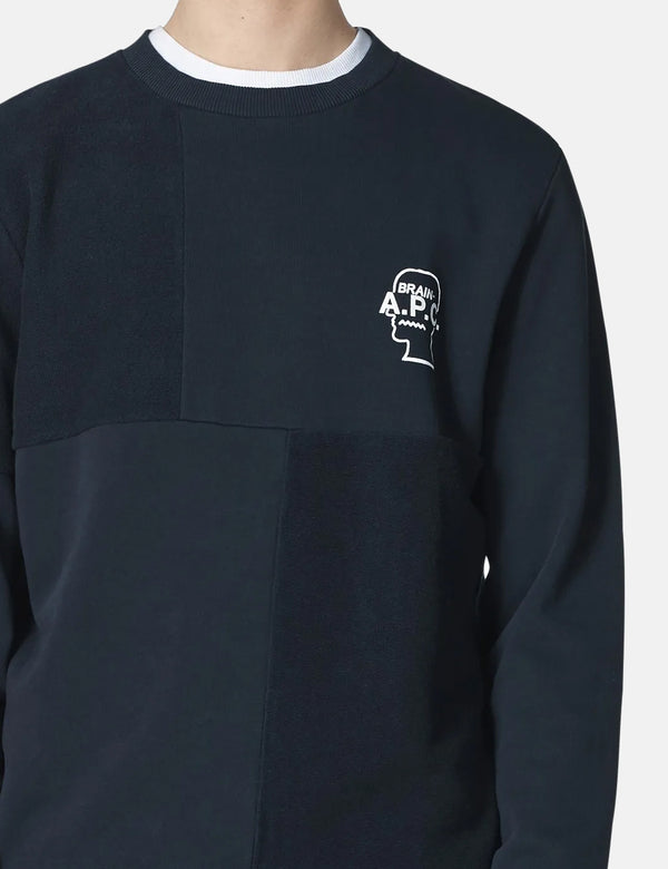 A.P.C. x Brain Dead Pony Sweatshirt - Dark Navy
