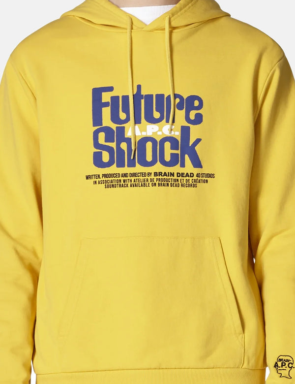 A.P.C. x Brain Dead Spacy Hoodie - Jaune Yellow