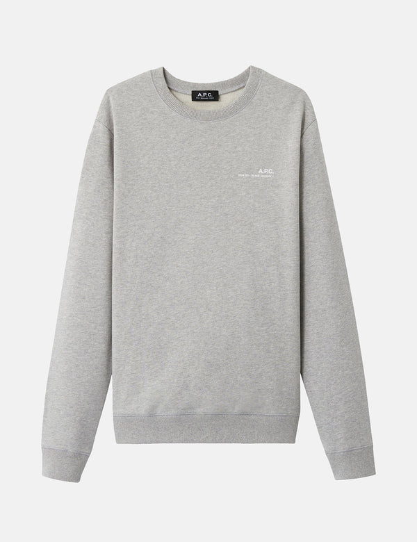 A.P.C. Chest Logo Sweatshirt (39 Rue Madame) - Light Grey