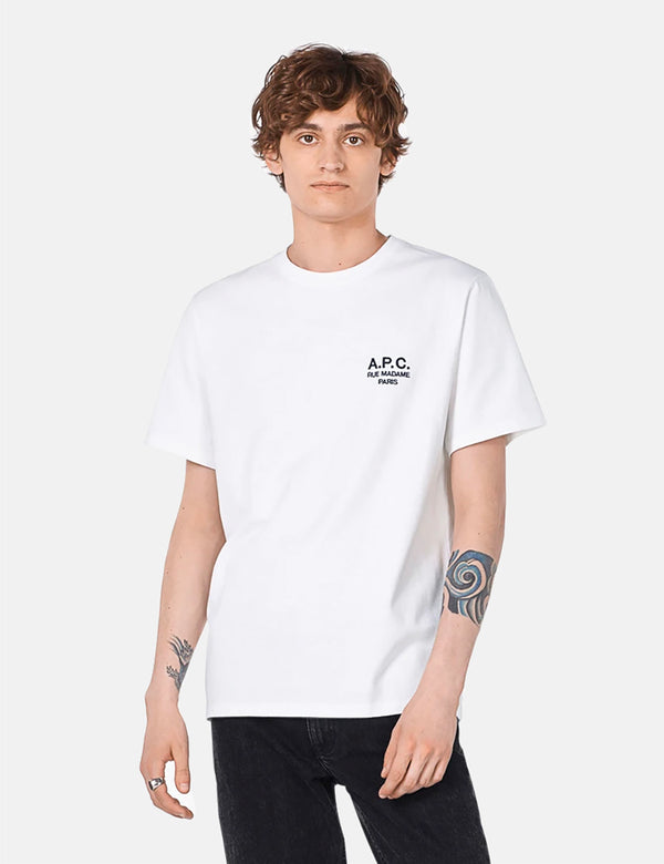 A.P.C. Raymond T-Shirt (Embroidered) - White