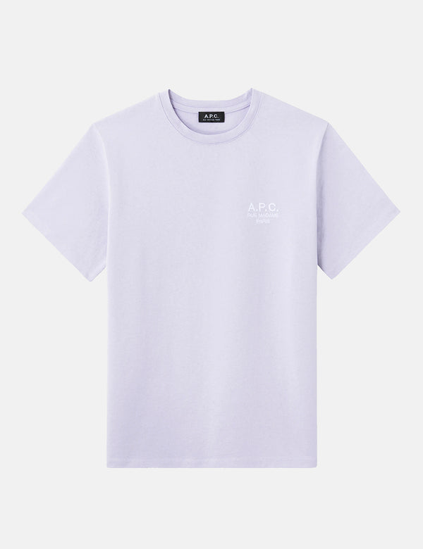 A.P.C. Raymond T-Shirt (Embroidered) - Lilac
