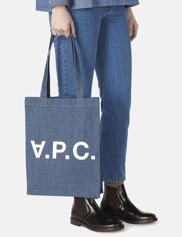 A.P.C. Laure Tote Bag - Light Indigo Blue