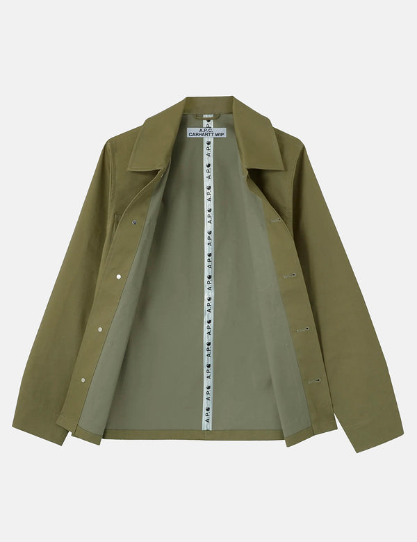 A.P.C. x Carhartt-WIP Michigan Jacket - Khaki Green