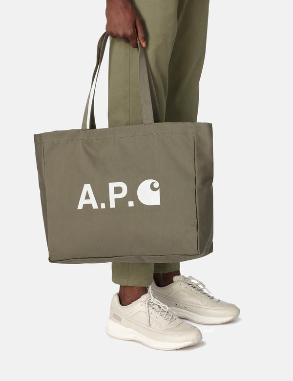 A.P.C. x Carhartt-WIP Shopping Bag - Khaki Green