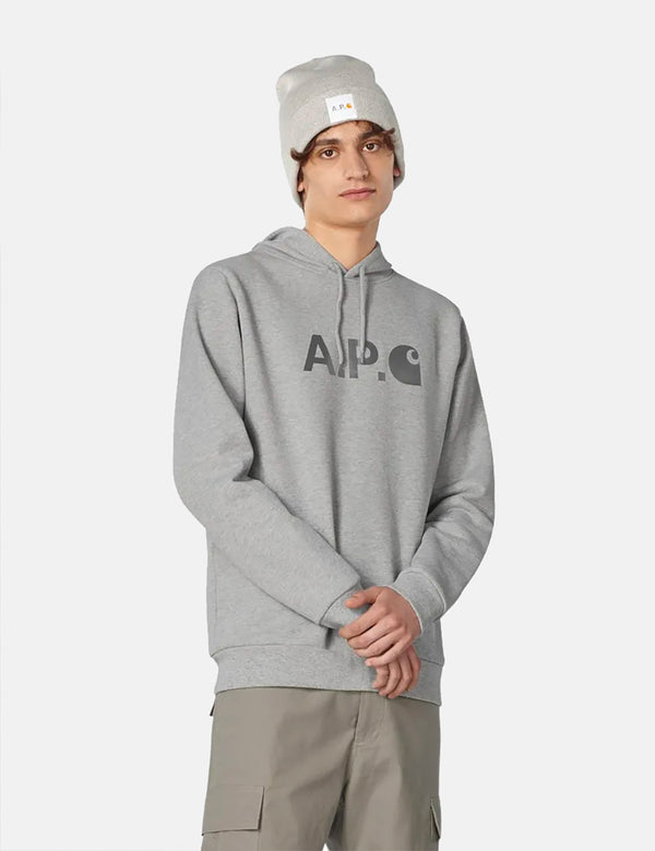 A.P.C. x Carhartt-WIP Stash Hoodie - Grey Heather