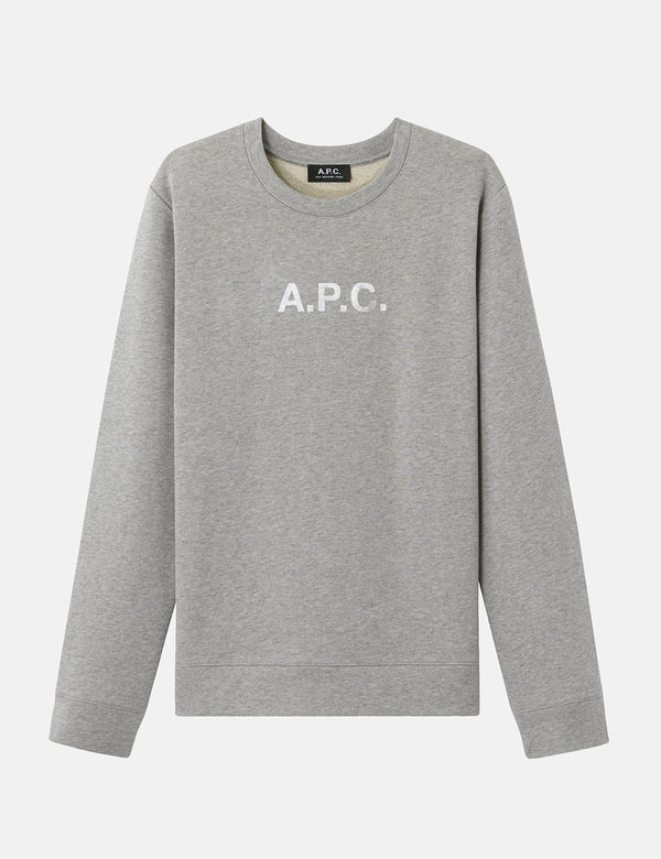 A.P.C. Stamp Sweatshirt - Grey Heather