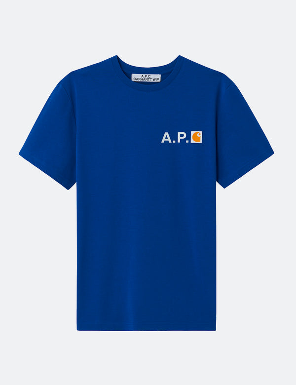 A.P.C. x Carhartt-WIP Fire T-Shirt - Royal Blue