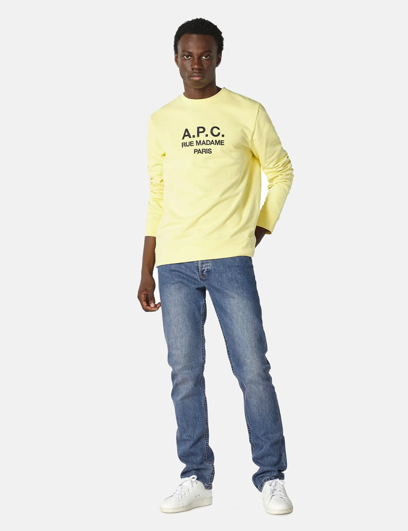 A.P.C. Rufus Sweatshirt (Embroidered Logo) - Pale Yellow
