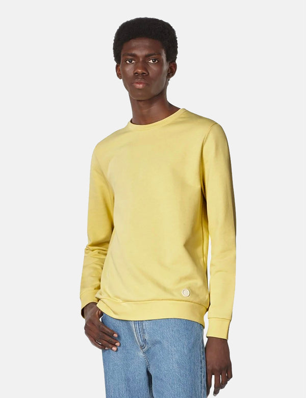 A.P.C. Label Sweatshirt - Pale Yellow